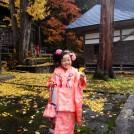 写真クラブ会長賞-栗城浩美「三島神社でハイ、チーズ!!」