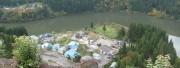 山城公園展望台から早戸温泉を臨む