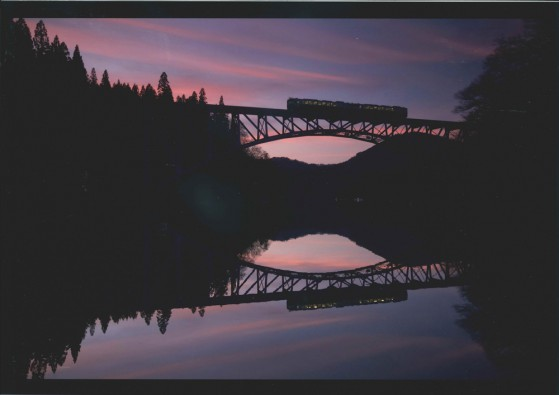 re_№47 夕焼けの第一只見川橋梁