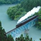 re_№43 川霧を渡るSL(第三只見川橋梁)